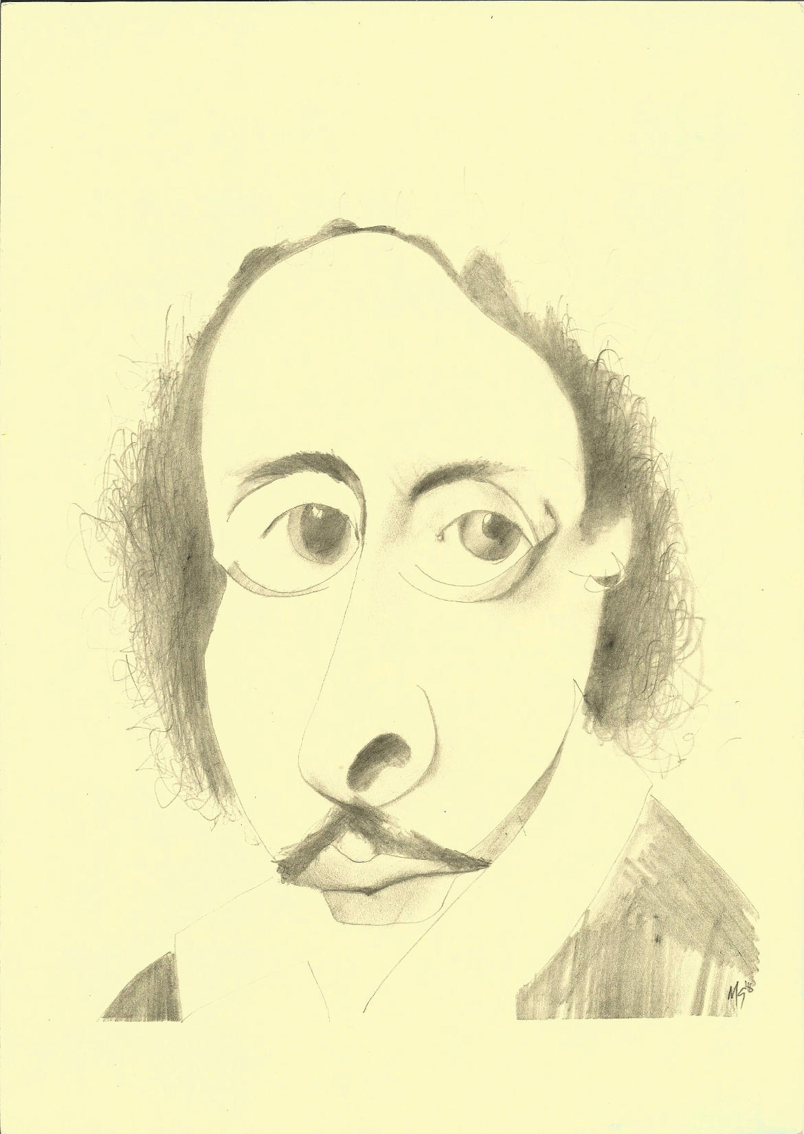 1170x1650 William Shakespeare (Distorted) Drawing