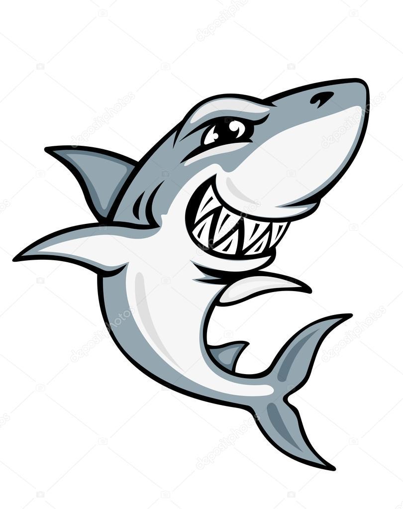 810x1023 Cartoon Shark Mascot Stock Vector Seamartini