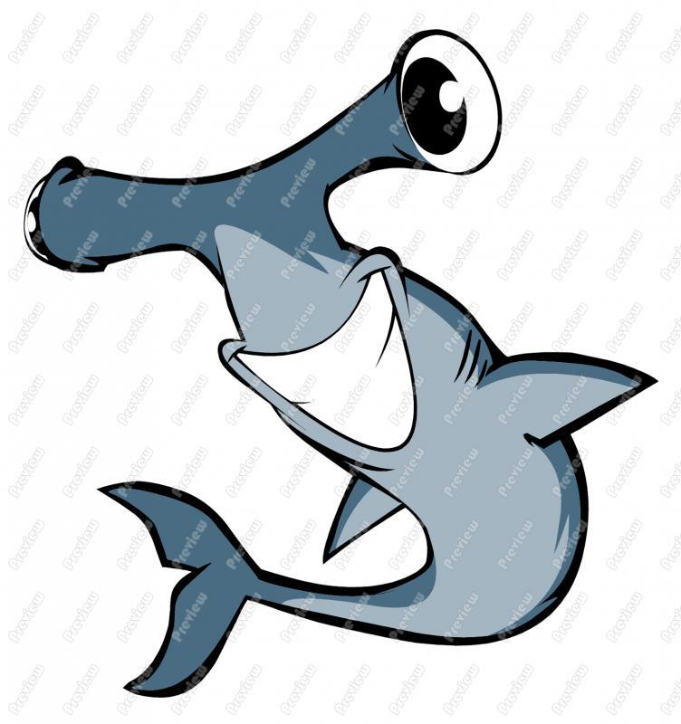 752x800 Hammer Head Shark Character Clip Art