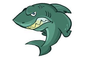 300x200 How To Draw A Cartoon Shark