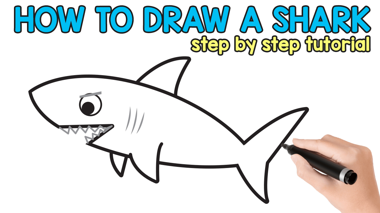 1280x720 Shark Step By Step Drawing How To Draw A Shark