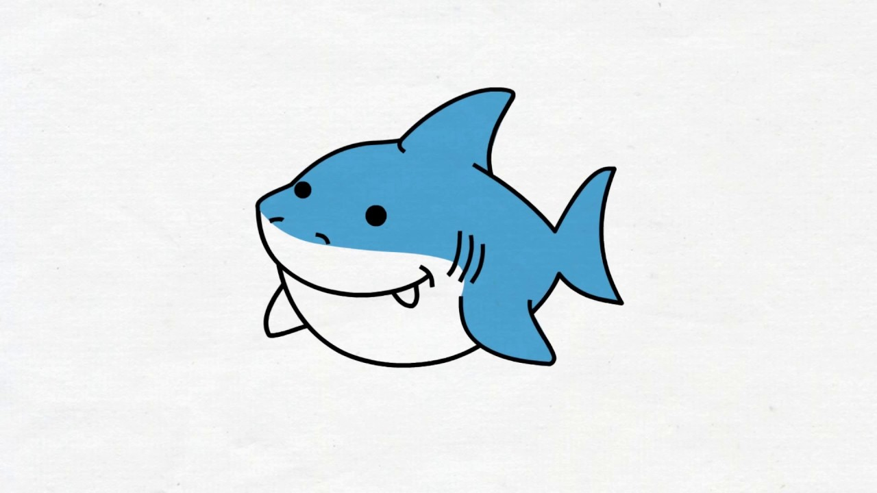 1280x720 Draw Baby Shark And Color It, For Kids