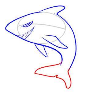 291x302 How To Draw How To Draw A Shark For Kids