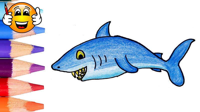 800x450 Shark Fish Coloring Pages For Kids Learning Videos For Kids