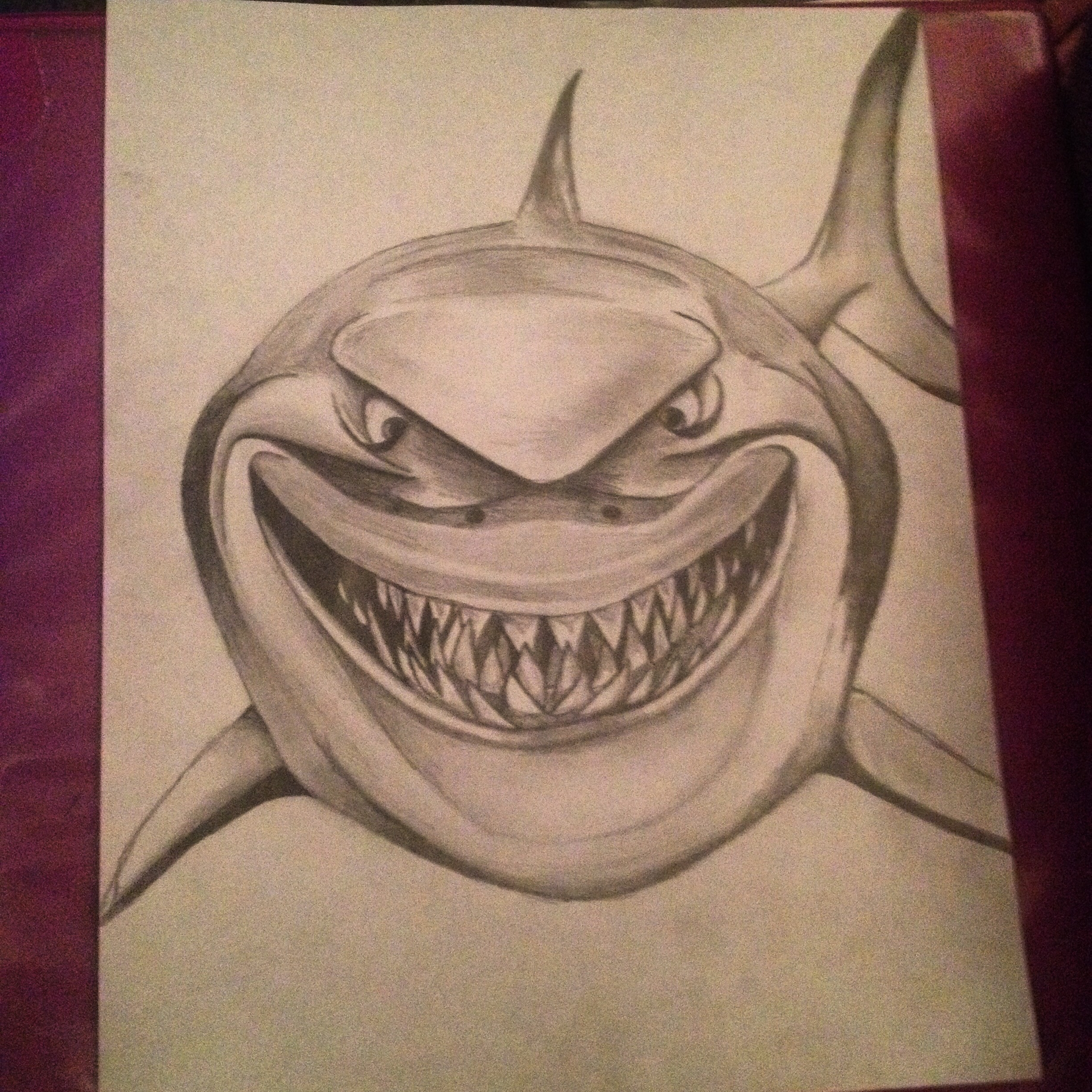 Draw 3d Online Shark Drawing In Pencil At Getdrawings Com Free For