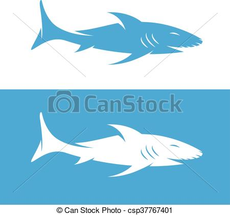 450x419 Vector Design Template Of The Abstract Shark Vector Clipart