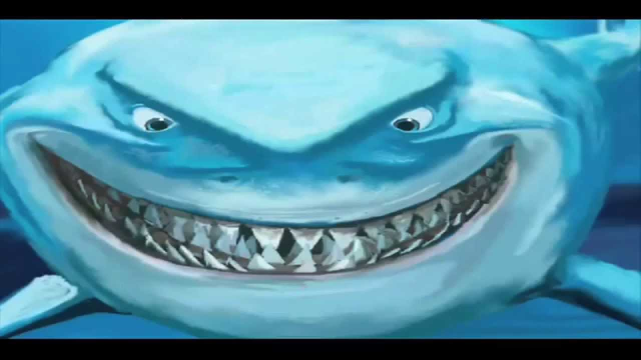1280x720 How To Draw Bruce The Shark, From Finding Nemo