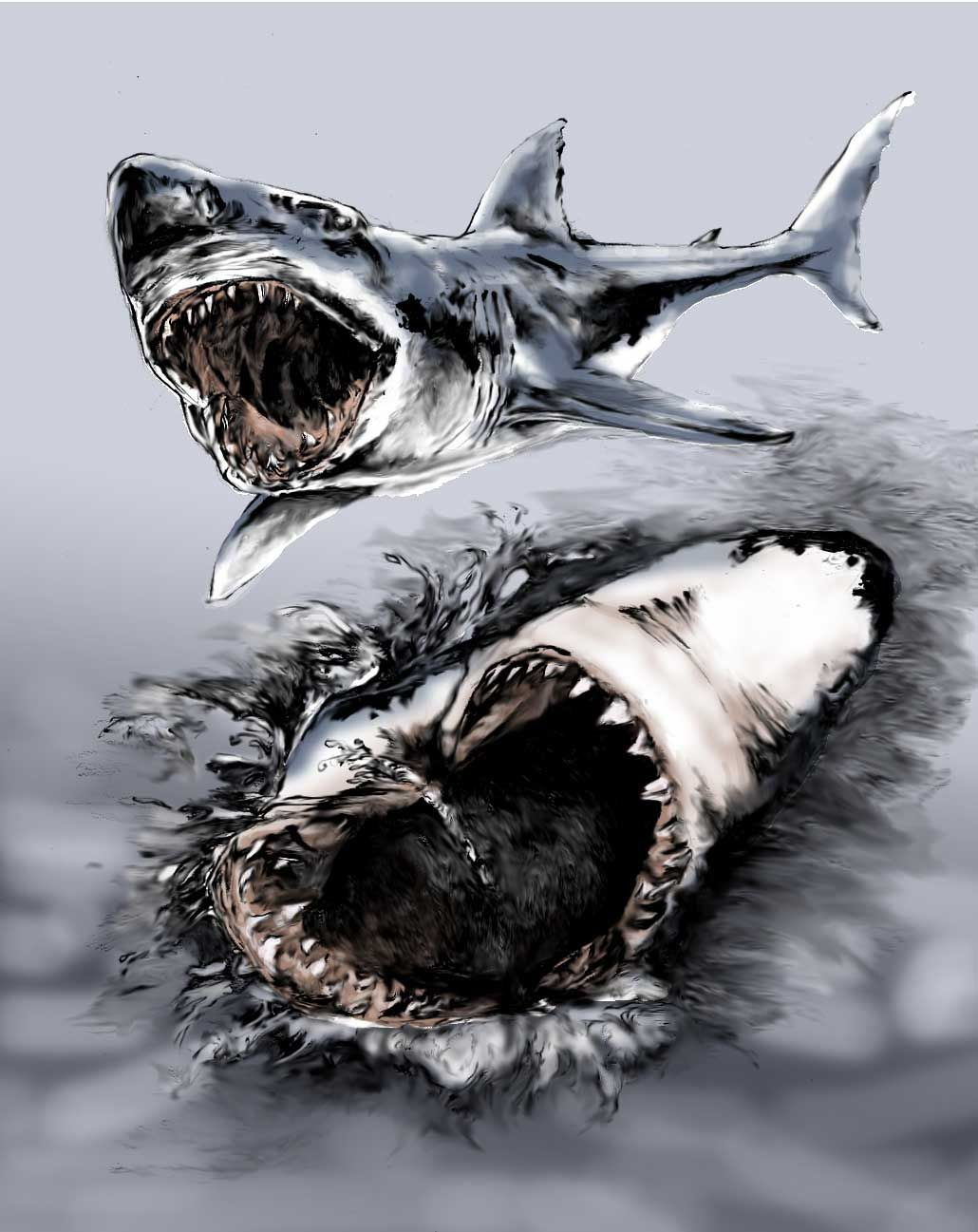 1030x1297 Tatoos Ideas Cool Great White Shark Tattoo Design Drawings