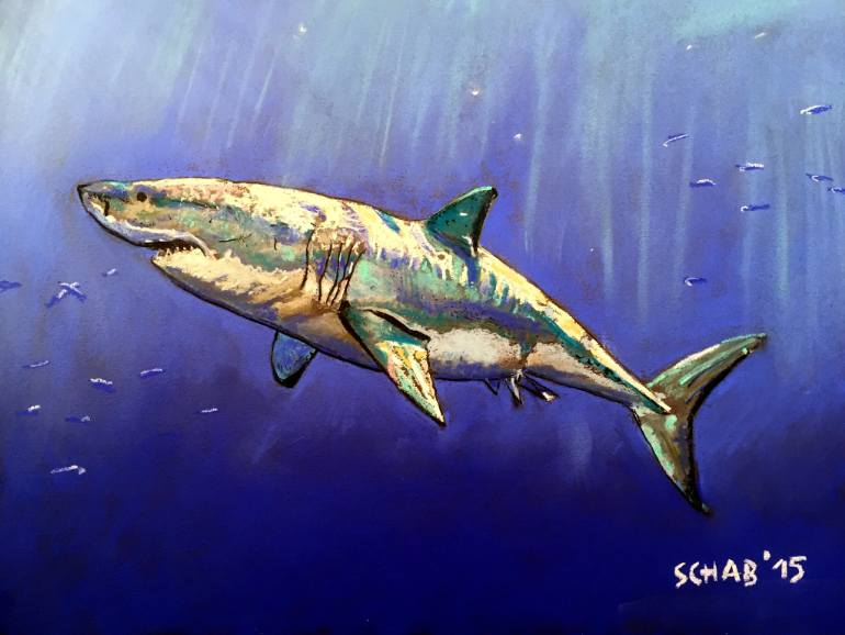 770x578 Saatchi Art Shark Drawing By David Schab