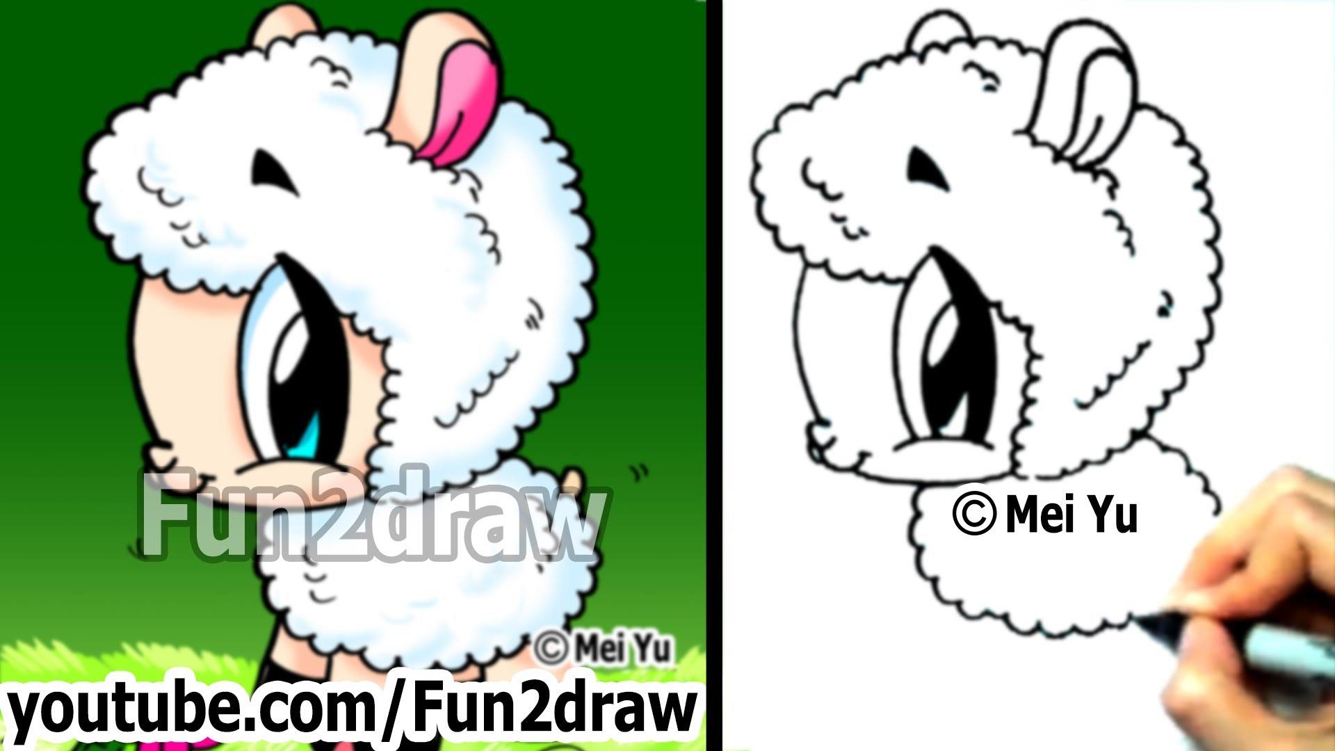 Sheep Cartoon Drawing at GetDrawings.com | Free for personal use ...