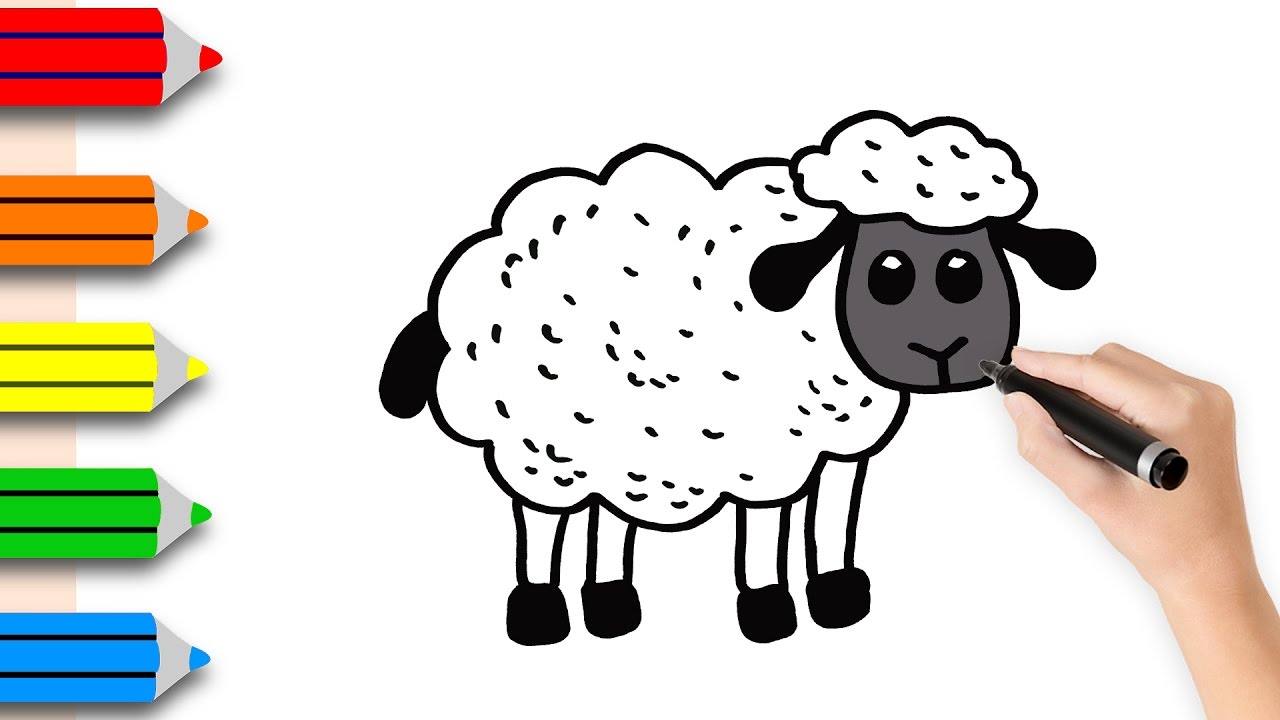 1280x720 Coloring Pages Sheep