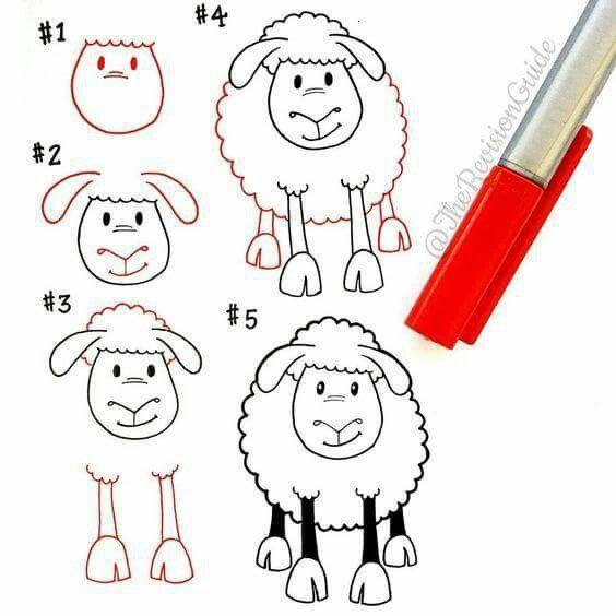 564x564 Dessiner Un Mouton New Years Eve Doodles, Draw