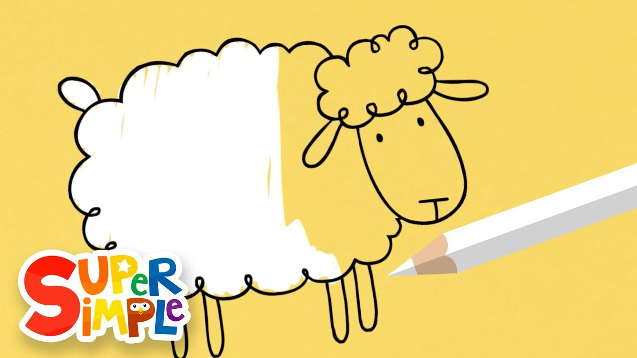 1280x720 Drawing And Coloring A Sheep + More Art For Kids Watch Amp Learn