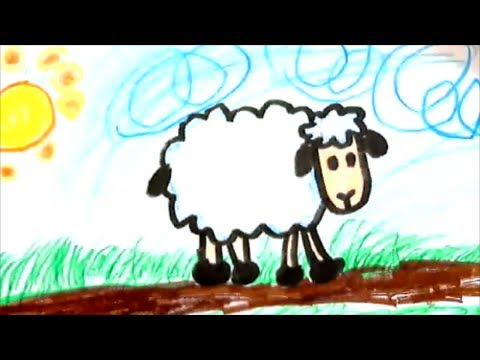 480x360 How To Draw A Cartoon Sheep For Kids