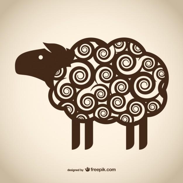 626x626 Decorative Sheep Drawing Vector Free Download