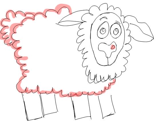 546x431 How To Draw Cartoon Sheep Lambs Farm Animals Step By Step