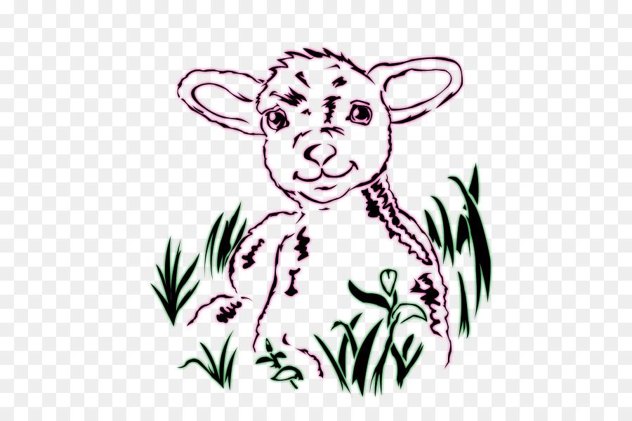 900x600 Sheep Drawing Line Art