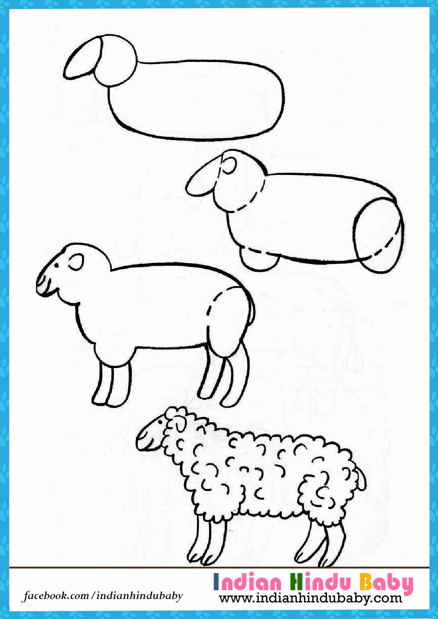 1448x2048 Simple Drawing Of A Sheep Teach Your Kid To Draw Sheep With Simple