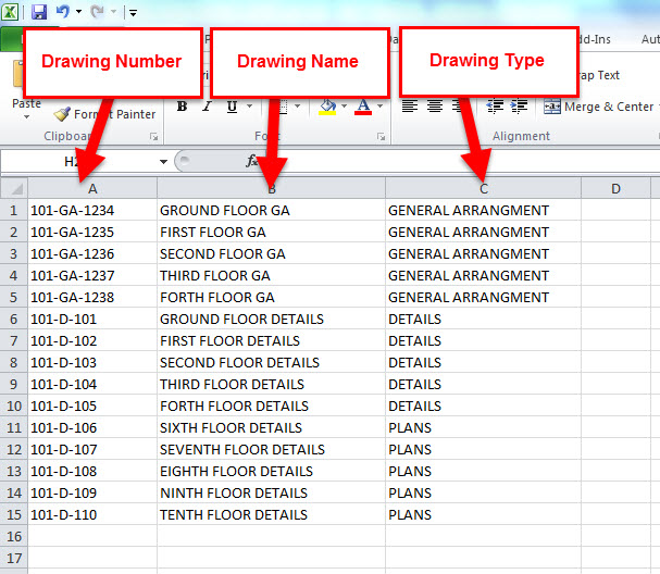 607x528 Autodesk Revit, Dynamo And Microsoft Excel For Drawing Sheet
