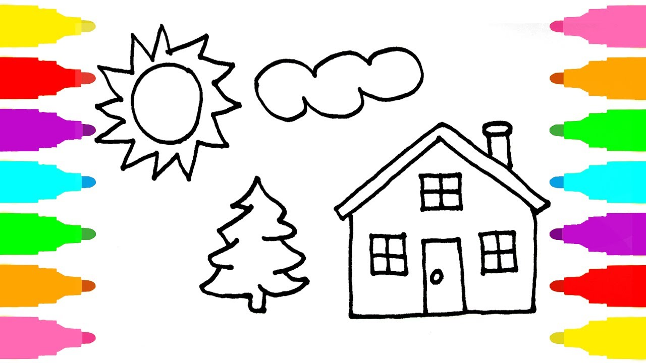 1280x720 Drawing And Colouring Pictures Drawing And Colouring For Kids
