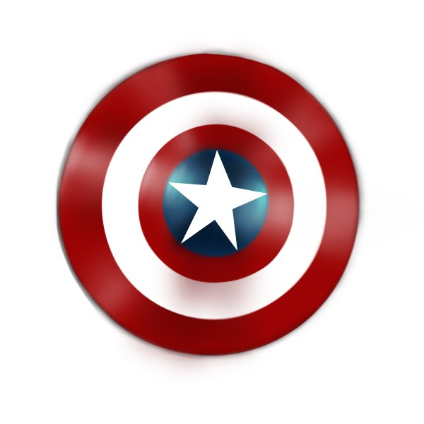 600x600 Learn How To Draw Captain America Shield (Captain America) Step By