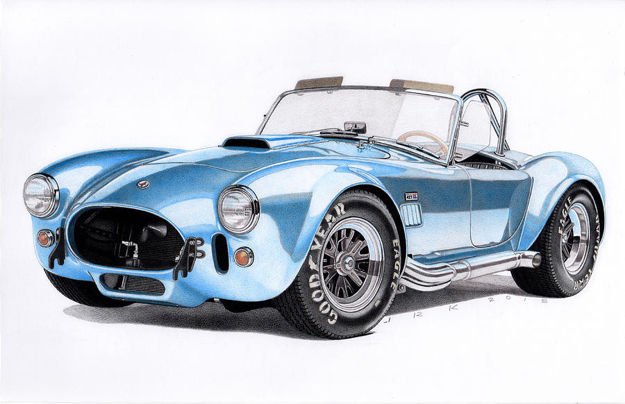 900x582 1966 Shelby Cobra 427 Drawing By James Robert
