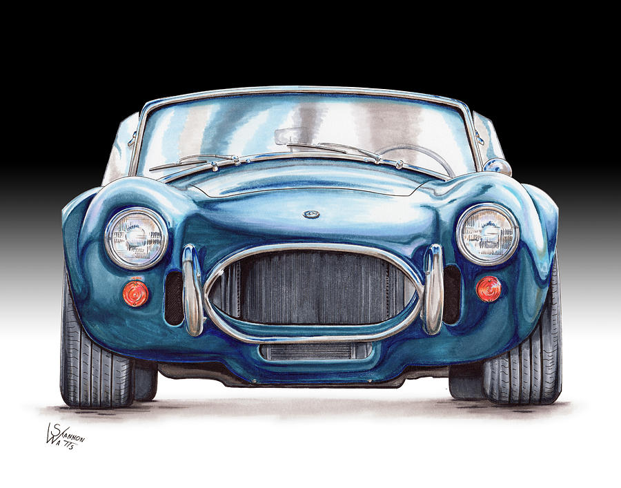900x707 Ford Shelby Ac Cobra Drawing By Shannon Watts