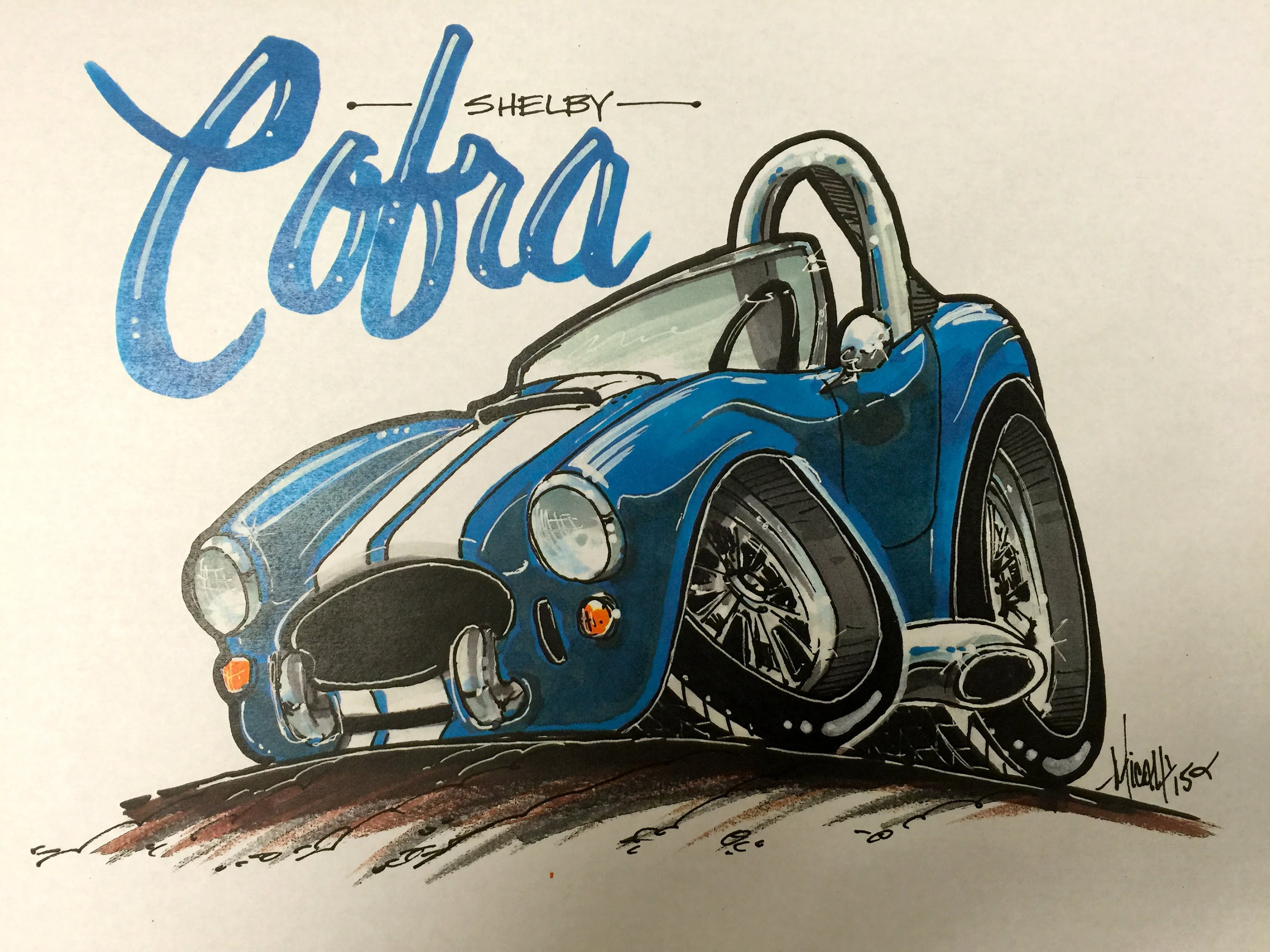 3000x2250 How To Draw A Shelby Cobra Time Lapse!