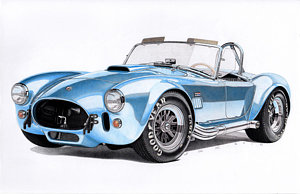 300x194 Shelby Cobra Drawings