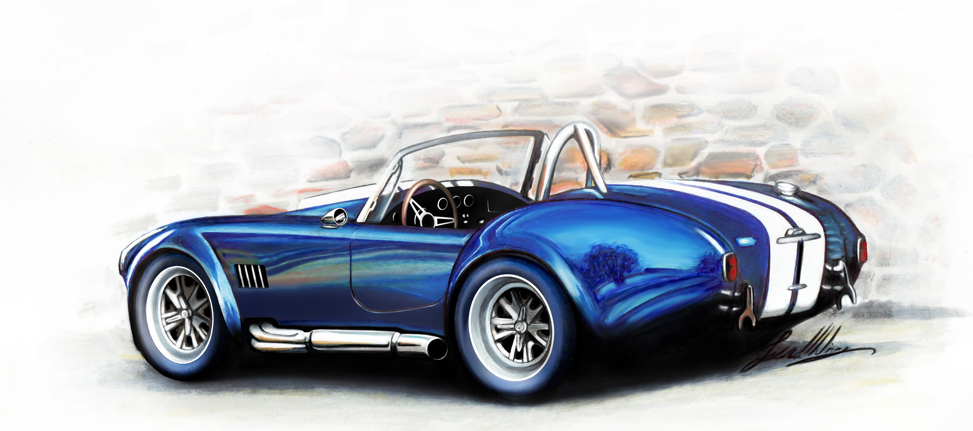 3354x1488 Shelby Cobra By Marchiori Luca My Sketch And Draw