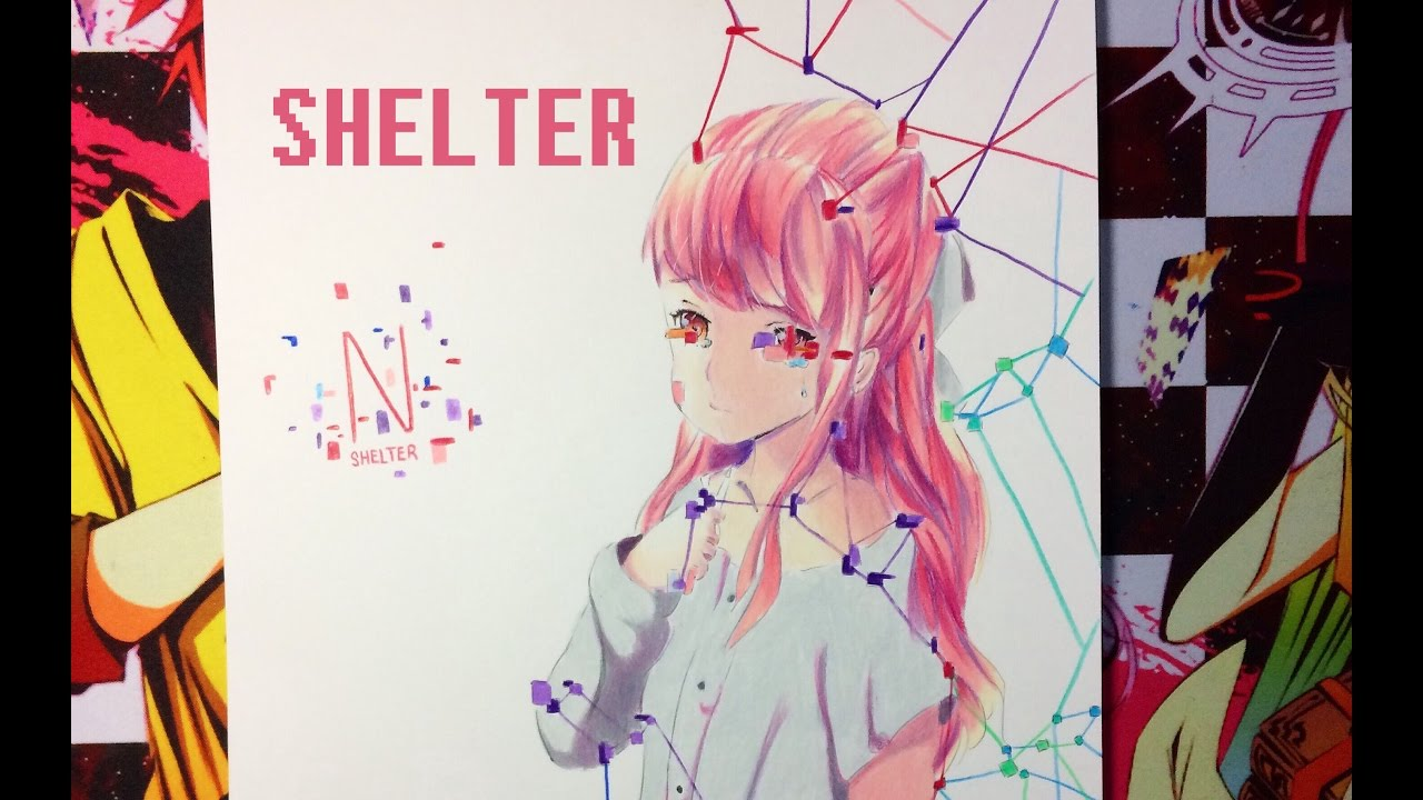 1280x720 Drawing Rin From Shelter (Porter Robinson)