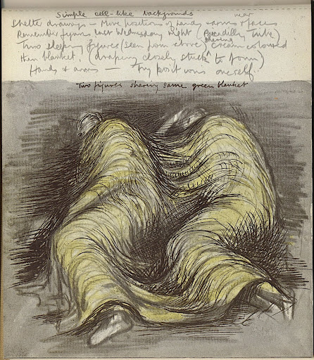446x512 Shelter Sketch Book (1945) Henry Moore. Sleepers In The Bomb