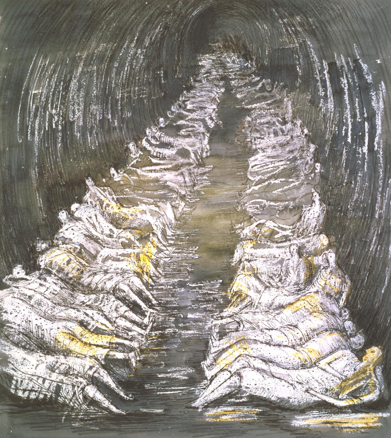 1370x1536 Tube Shelter Perspective', Henry Moore Om, Ch, 1941 Tate