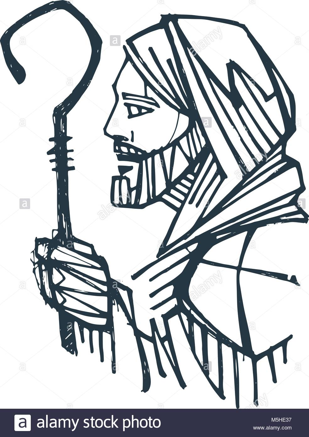 984x1390 Hand Drawn Ink Illustration Or Drawing Of Jesus Christ Good