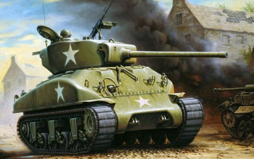 840x525 American Medium Tank M4a3 Sherman World War Allied Vehicles