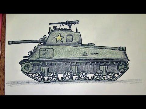 480x360 How To Draw A Wwii Sherman Tank