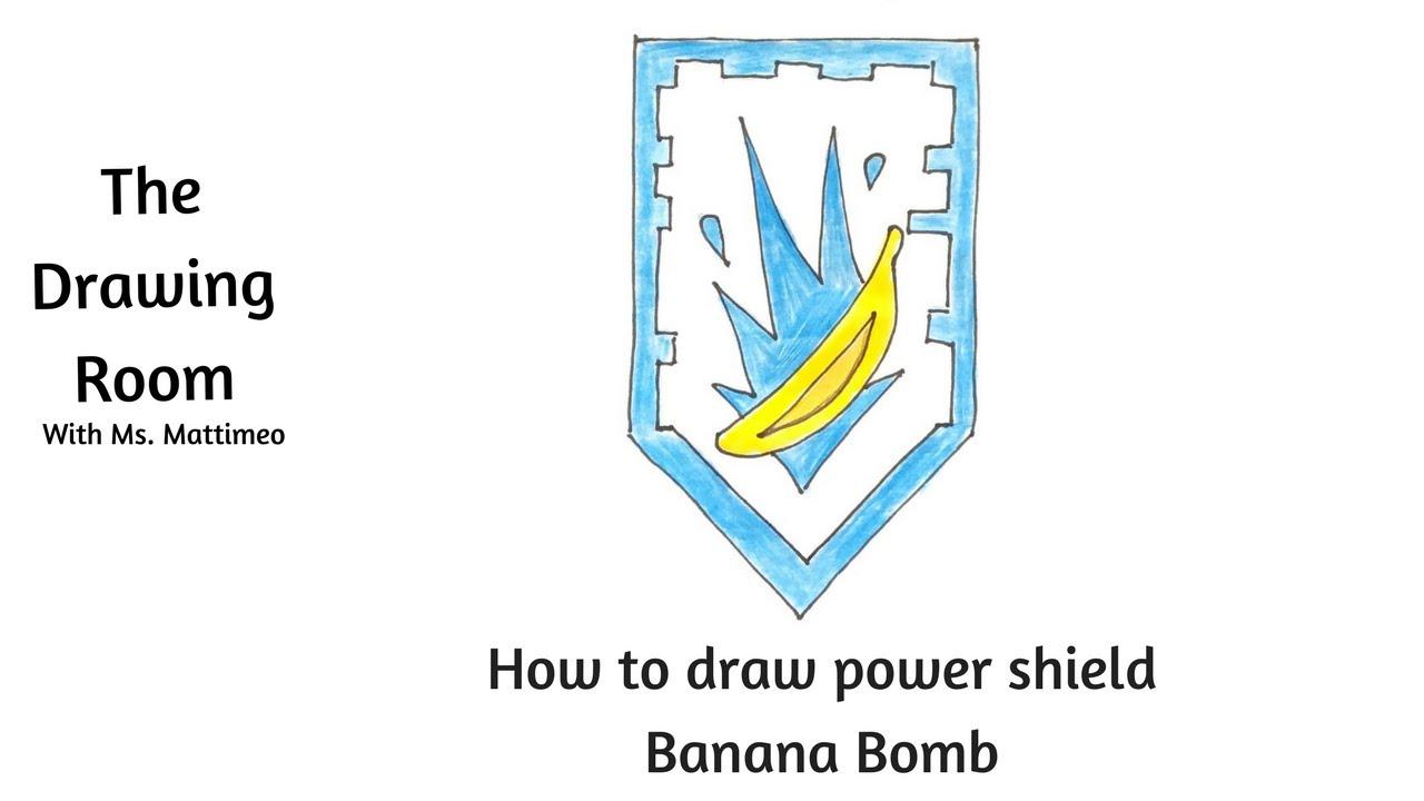1280x720 How To Draw A Nexo Knight Power Shield
