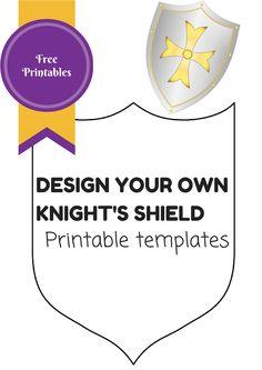 236x333 Decorate The Shield, Shield Template Princess Amp Prince Birthday