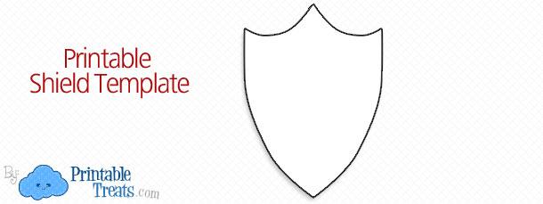 610x229 free printable shield template printable