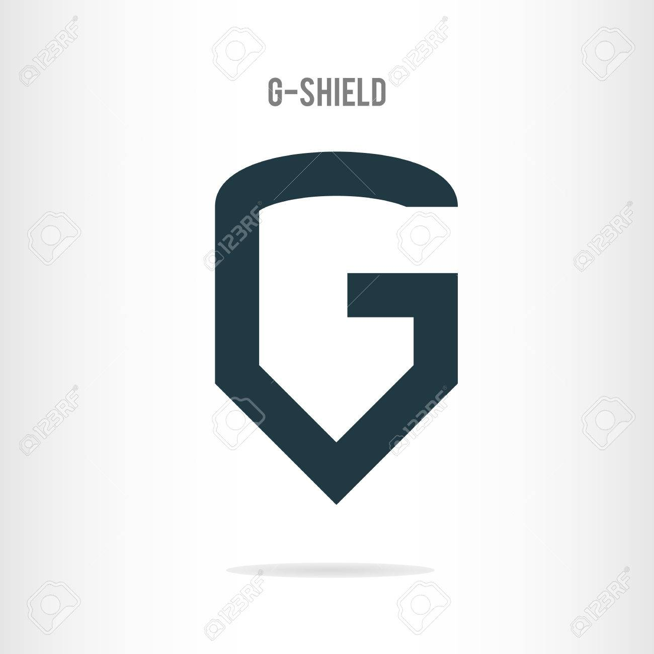 1300x1300 Letter G Logo Template. The Letter G In The Form Of Shield