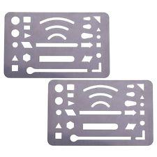225x225 Stainless Steel 27 Patterns Erasing Drafting Tool Shield Template
