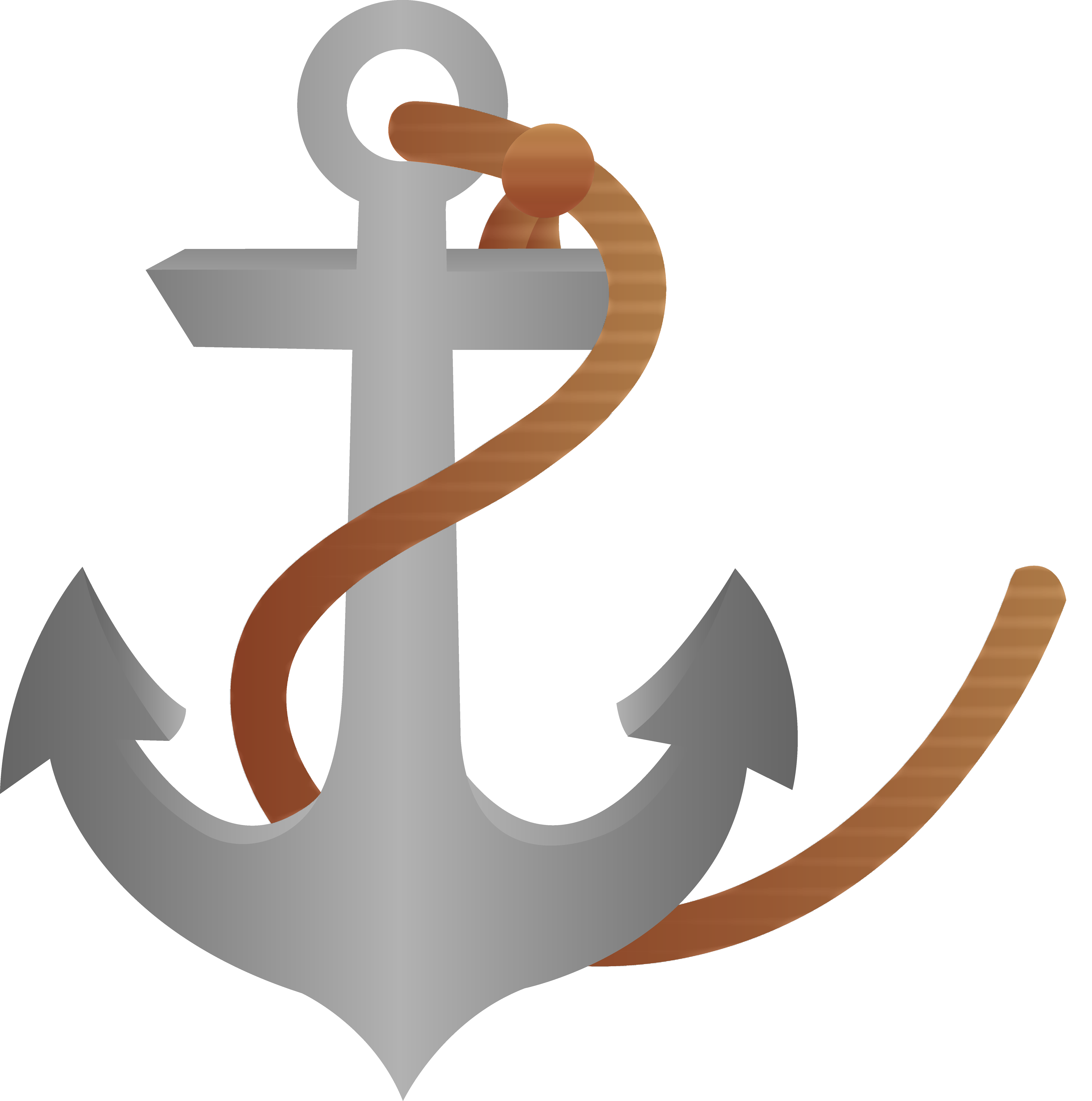 6383x6435 Ship Anchor With Rope