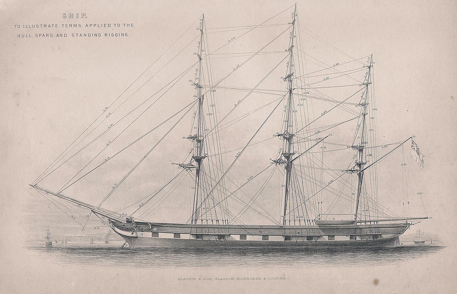 900x580 Drawing Of An Old Ship Drawing By Anon