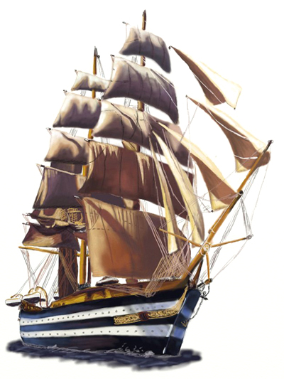 400x533 How To Draw A Sailing Ship