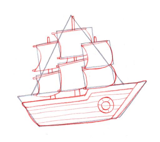 512x454 4 Ways To Draw A Boat