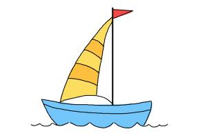 300x200 How To Draw A Simple Boat