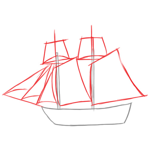 500x500 How To Draw A Pirate Ship Art 3 Pirate Ships