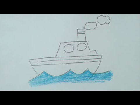 480x360 How To Draw Ship Step By Step Very Easily For Kids, Beginners