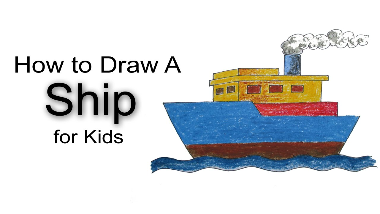 1280x720 How To Draw A Ship For Kids
