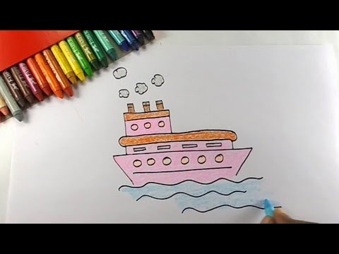 480x360 How To Draw Ship Easy Drawing For Kids